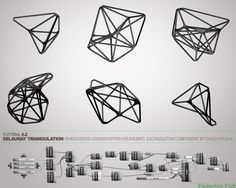 parametric-architecture-parametric-design Surface to skeleton rhino + grasshopper + weavebird +starling (David Stasiuk)